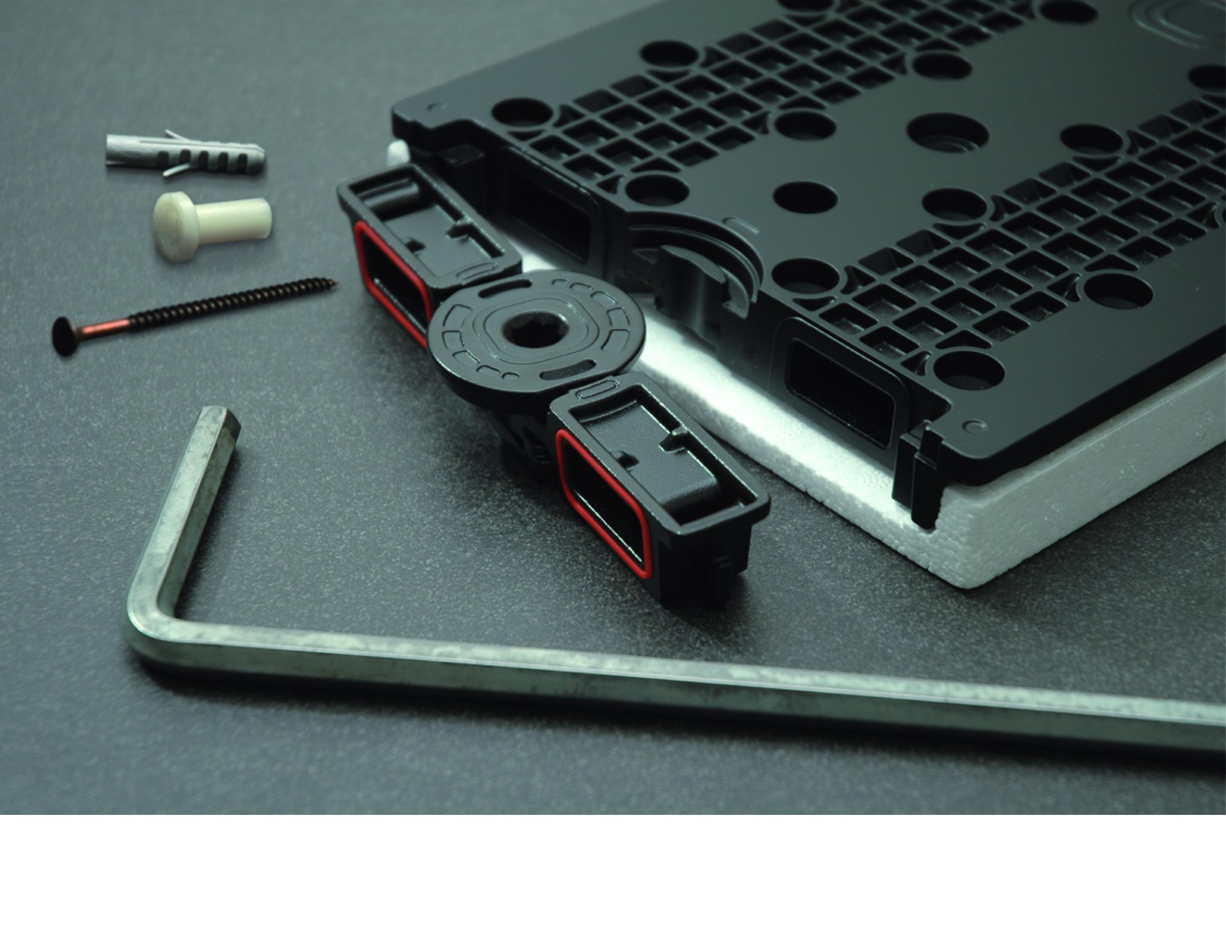 pannelli radianti Thermosaic: sistema di bloccaggio