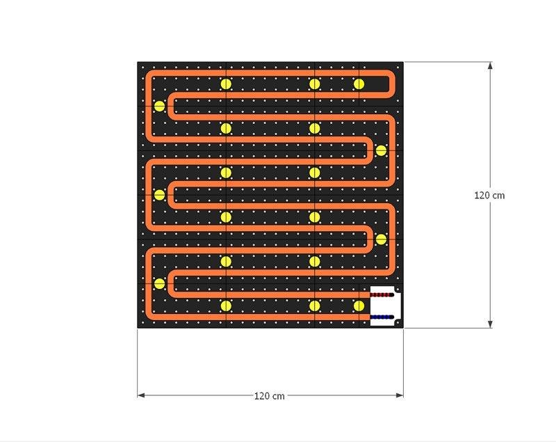 schema moduli attivi Pannello Radiante PIETRA