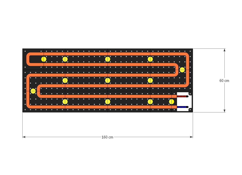 schema moduli attivi Pannello Radiante Arredo LUXURY