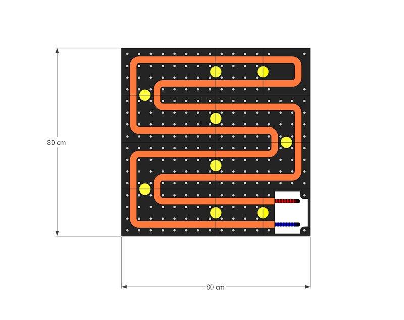 schema moduli attivi Pannello Radiante SPECCHIO