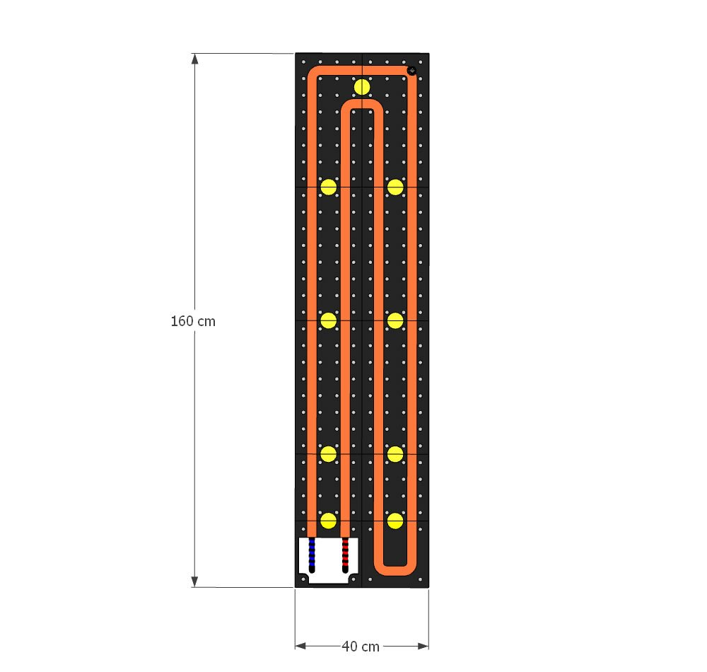 schema moduli attivi Pannello Radiante Colorato FUCSIA